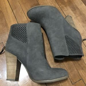 Spring Faux Suede Booties